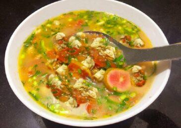 Canh chua Hà biển quả Chay