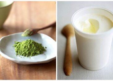 Bí quyết chống lão hóa với sữa chua và bột trà xanh
